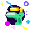 adaptive, game, ios, isolated, material design, toys, water gun icon