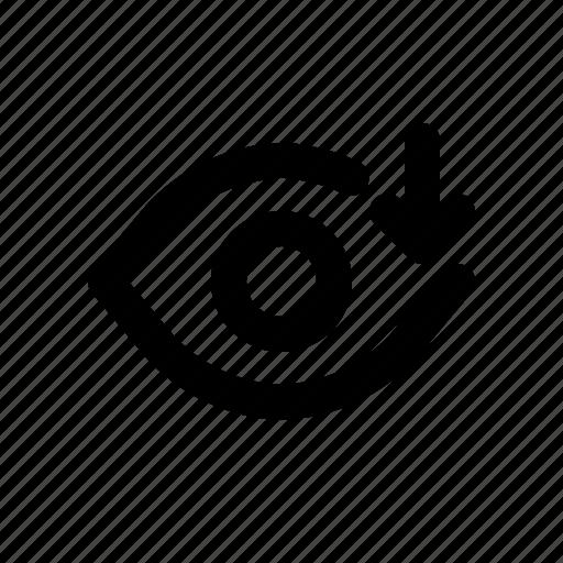 cloud, download, eye, interface, view icon