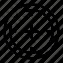 aim, crosshair, game, shoot, target icon