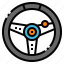car, console, game, joystick, steer icon