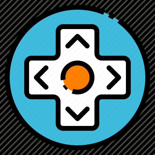 arrow, controller, game, joystick, toy icon