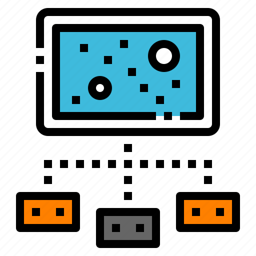 console, game, joystick, multiplayer, online icon