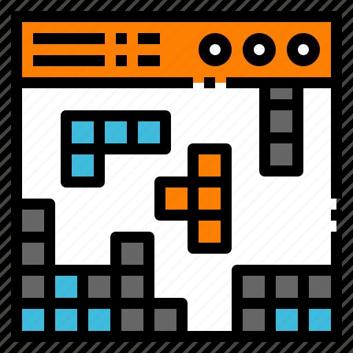 arcade, block, game, puzzle, tetris icon