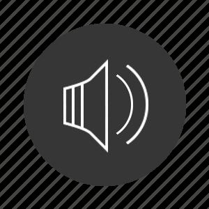 audio, music, on, sound, volume icon
