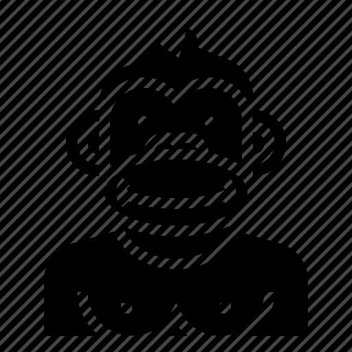 animal, avatar, character, gorilla, monkey icon