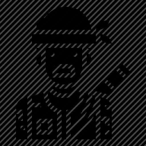 avatar, character, hero, hunter, man, warrior icon