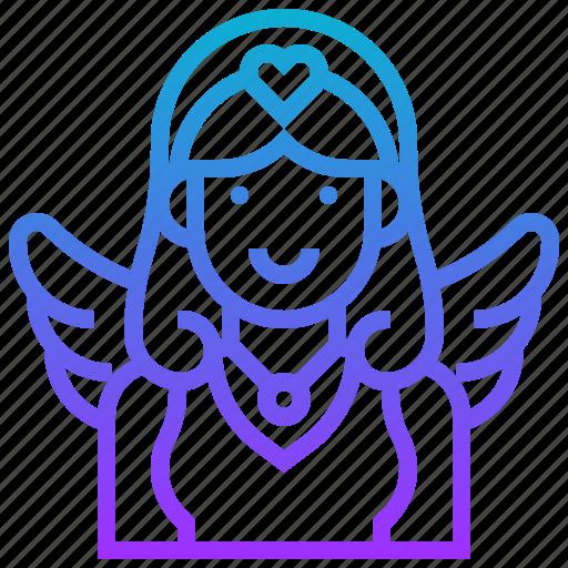 angel, avatar, character, fairy, girl, woman icon