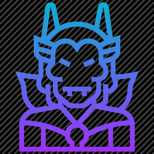 avatar, character, devil, evil, man, monster icon
