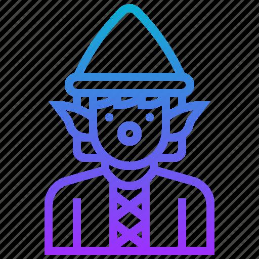 avatar, character, dwarf, elf, fairy, man icon