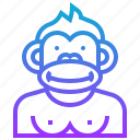 animal, avatar, character, gorilla, monkey icon