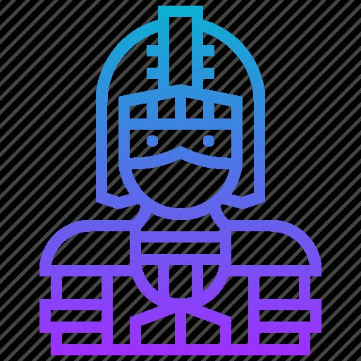 avatar, character, hero, knight, man, warrior icon