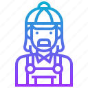 avatar, character, man, merchant icon