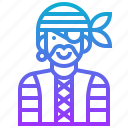 avatar, character, man, pirate, warrior icon