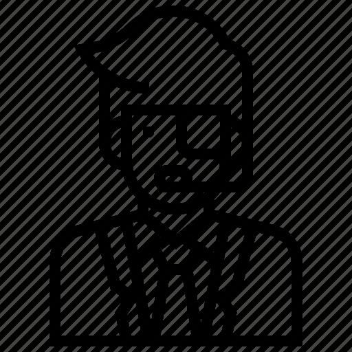 agent, avatar, character, detective, man, spy icon