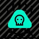 dangerous, mushroom, poisonous, skull, toxic icon