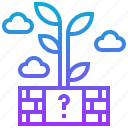 block, cloud, game, puzzle, tree icon