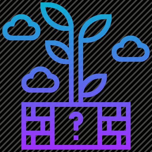 block, cloud, game, puzzle, tree icon