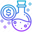 currency, dollars, elixir, money, tube icon