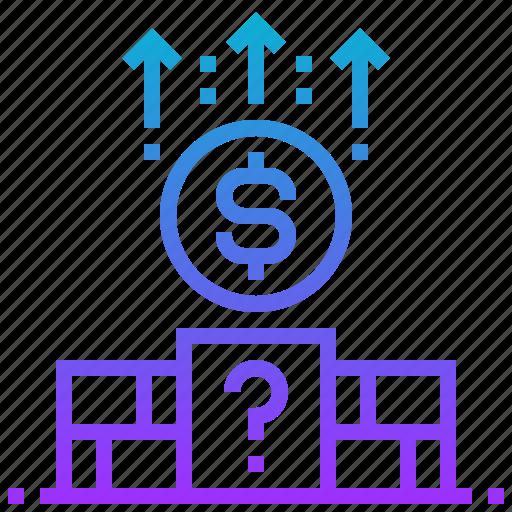 block, currency, dollar, money icon