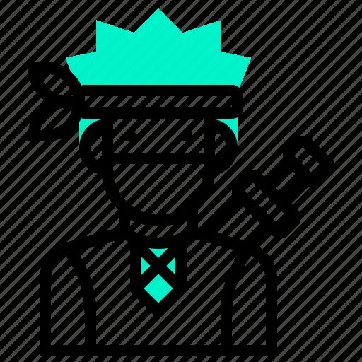 assassin, avatar, character, hunter, man, ninja icon