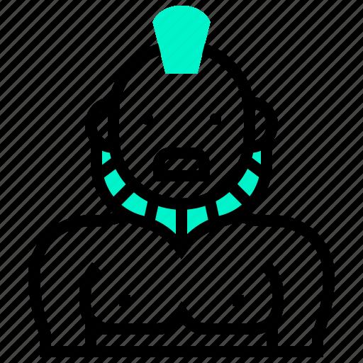 avatar, character, fighter, hero, man, warrior, wrestler icon