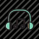 audio, headphone, headset, music, play, sound icon