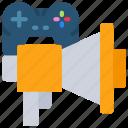 advertising, development, game, marketing, megaphone icon