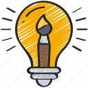 creative, development, game, idea, lightbulb, thinking icon