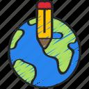 design, development, game, levels, planet, worlds icon