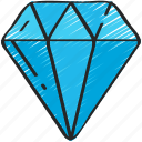 development, diamond, element, game, jewels icon