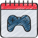 date, development, game, launch, release icon