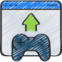 date, development, game, launch, release, upload icon