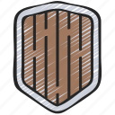 component, development, element, game, protection, shield icon