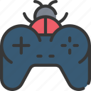 bug, controller, development, error, game, programming icon
