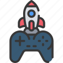 control, development, game, launch, load, rocket icon
