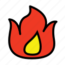 fire, flame, game, hot, icon icon