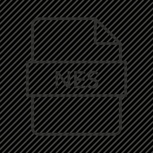 .nes, nes document, nes file, nes file icon, nintendo entertainment system file, rom file, video game emulator file icon
