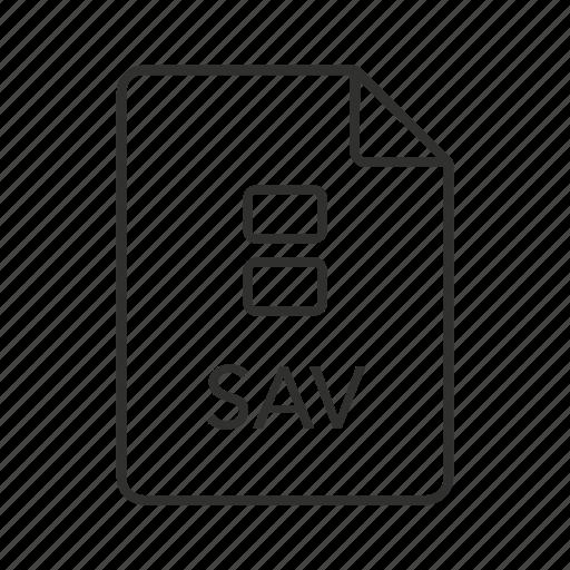 .sav, sav document, sav file, sav file icon, sav icon, saved data file, spss icon