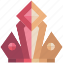crown, fantasy, game, game item, pink, royal, royalty icon