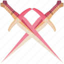 battle, daggers, fantasy, game, game item, pink, weapon icon