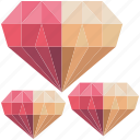 fantasy, game, game item, gems, jewel, pink, stone icon
