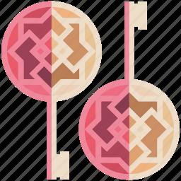 fantasy, game, game item, keys, lock, open, pink icon