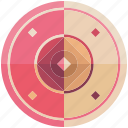 battle, defense, fantasy, game, game item, pink, shield icon