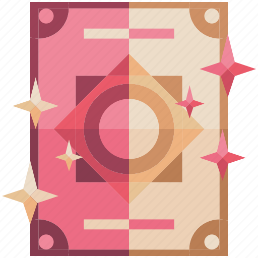 fantasy, game, game item, magic, pink, spells, tomes icon