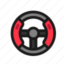 steering, wheel, game, controller, racing, car, simulator