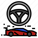 automobile, car, game, speed icon