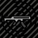 game, gun, hand, shooting icon