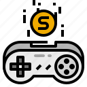 game, joystick, top, up icon