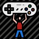 action, esport, game, training icon