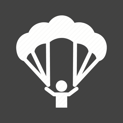 air, fly, paragliding, skydiving icon